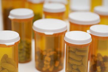 Bottles of pills, close-up