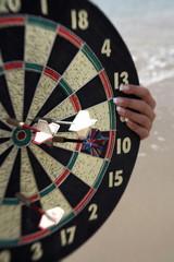 Closeup of dartboard
