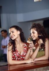 Two women in a bar