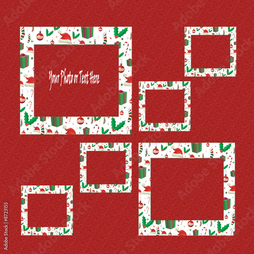 Christmas Scrapbooking Framing SET & Background