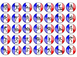 Olimpic summer game simbols france flag