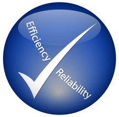 """Efficiency - Reliability"" logo"
