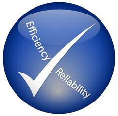 """""""Efficiency - Reliability"""" logo"""