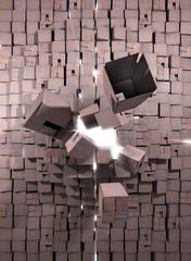 éxplosion de cartons