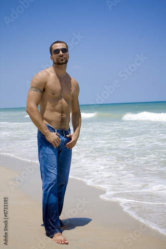 Man on a beach