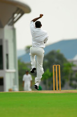 Stock Photo of cricket bowler