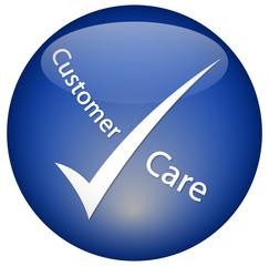 """Customer Care"" logo Button"
