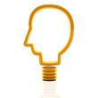 head shape light bulb