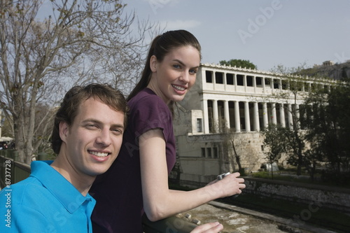 Couple at archaeological site