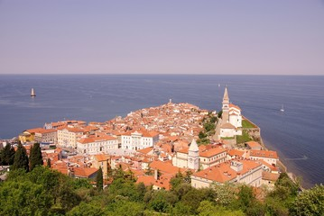 Piran, slovenia at the adriatic sea