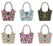 set of handbags with patterns
