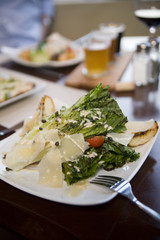 Romaine and Parmesan salad appetizer