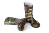 camouflage gum boots poster