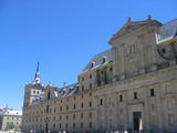 vista frontal del monasterio del escorial poster