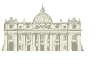 Der Petersdom in Rom (gezeichnete Vektorgrafik)