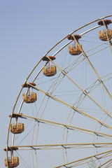 Amusement park ride;closeup