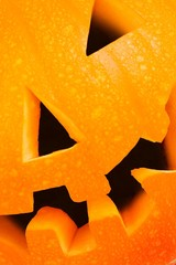 Halloween lantern closeup