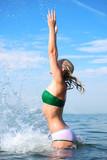 aqua sport woman poster