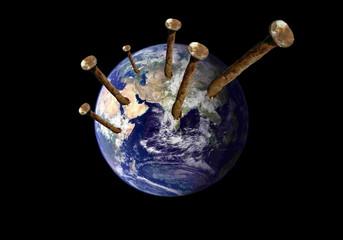 Planète clouée