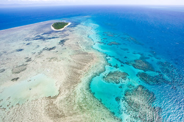 Great Barrier Reaf from the sky