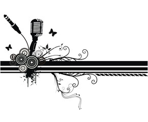composicion musical en vector