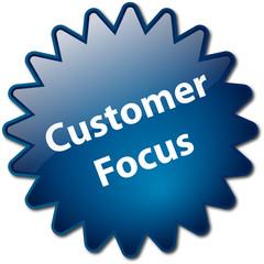 """Customer Focus"" stamp"