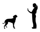Hundetraining (Obedience), Befehl Steh und Bleib! poster