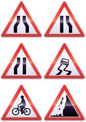 Panneaux de signalisation métal de danger (détouré)