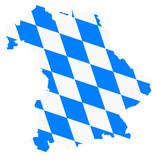 bayern karte fahne bavaria vektor map