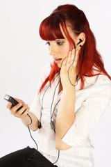 erschrocken telefonieren