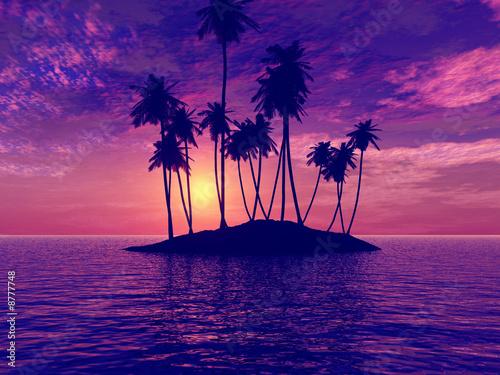 Leinwanddruck Bild Beautiful sunset