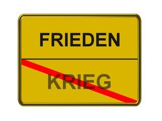 frieden - krieg