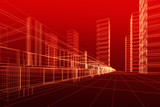 Fototapety 3D architecture abstract