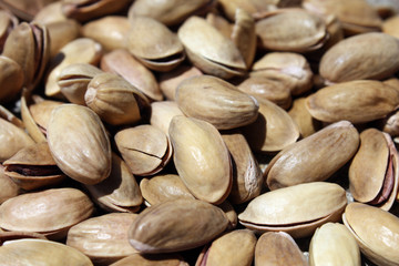 Pistachio nuts close-up photo