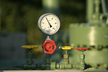 Tuyauterie d'un poste à gaz