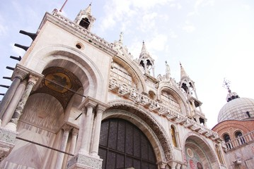 Detail of St Mark's basilica in Venice, Italy