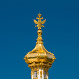 Russian Empire symbol at the top of Big Palace cupola poster