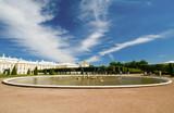 Wide angle view of Peterhof