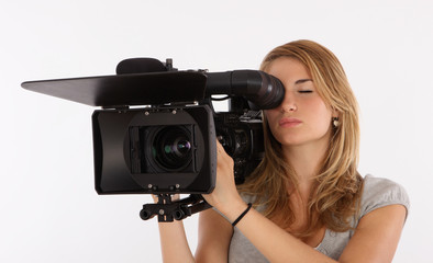 Teenage Girl Learning Cinematography In A Studio