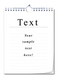 spiral bound note pad with ruling,  place your own texts! poster