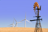 Power generating windmills, ranch windmill, Rio Vista poster
