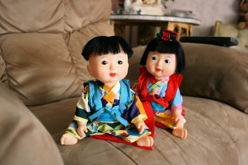 small japanese dolls