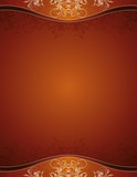 Fototapety brown background with decorative ornaments