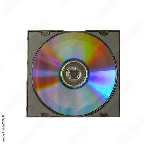 poster of CD and case with insert isolated on white.