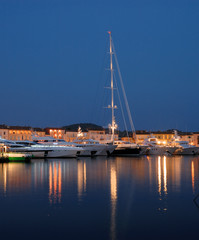 Luxury yachts in the harbor of Saint Tropez, France