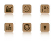 Wooden ecology tile series