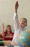 Pupils at classroom poster
