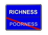 richness - poorness blue poster