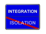 integration - isolation - blue poster