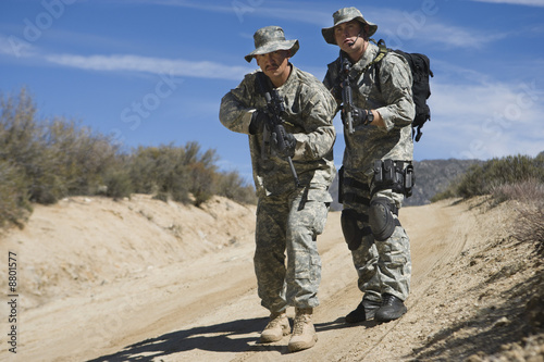Two soldiers during training